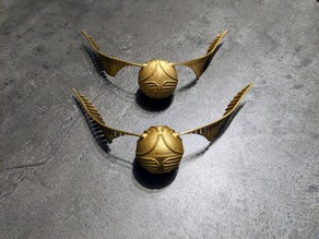 Golden Snitch - with infill - from two part