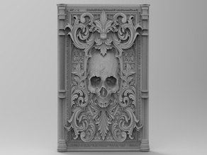 Scull in victorian frame for CNC