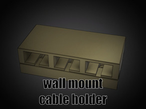 Wall mountable Cable Holder