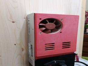 Façade alimentation Ender 3 côté ventilateur 60mm (sans grille)