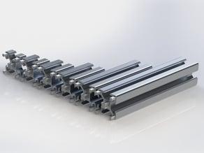 Profilati estrusi in alluminio 30mm x 30mm T-SLOT 8mm modulari
