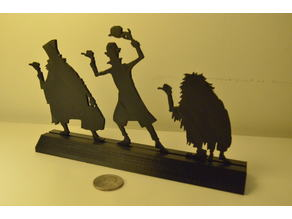 Hitchhiking Ghosts Silhouette with Stand