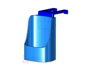 Equate 34oz or Target 32oz Hand Sanitizer holder for Haworth Compose Cubicles - version 2