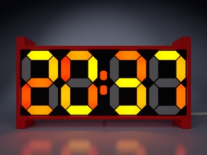 Retro 7 Segment Clock TE (Tiny Edition)