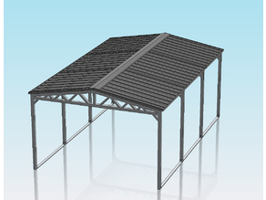 1:32 SCALE PITCHED ROOF CARPORT