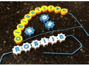 Letter bead generator
