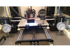 bed leveling anet A6 with analog and digital indicator (gauge)