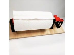 Slightly overbuilt paper towel roll mount