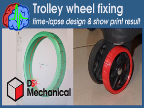 Trolley wheel fixing