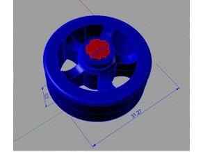 5 spoke slot Toy car wheel