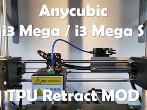Anycubic i3 Mega TPU Retract Extruder Mount MOD v2.0