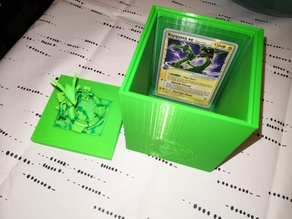 Rayquaza pokemon card box with figure lid Remix and merge
