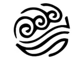 Avatar Water Tribe symbol stencil