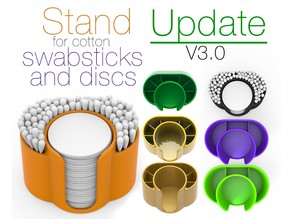 Stand for cotton swabsticks and discs