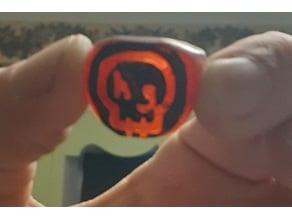 HOG Skull Logo Ring