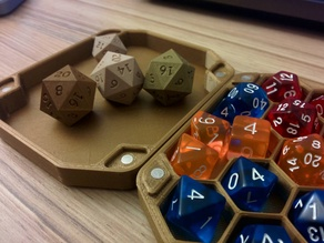 Dice Box and Tray for 21+ Dice