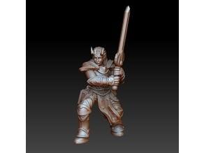Tiefling paladin 2h sword