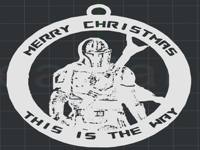 Mandalorian Christmas Ornament