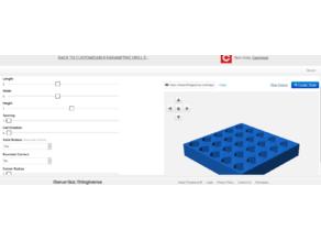 Customizable Parametric Drill Driver Bit Holder