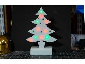 Flashing LED Christmas Tree