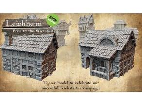 Leichheim kickstarter Teaser model Medieval citizen's building