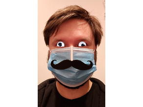 Funny face mask mustache
