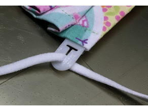 Sew-in Quick-Adjust Elastic Connector for Face Masks