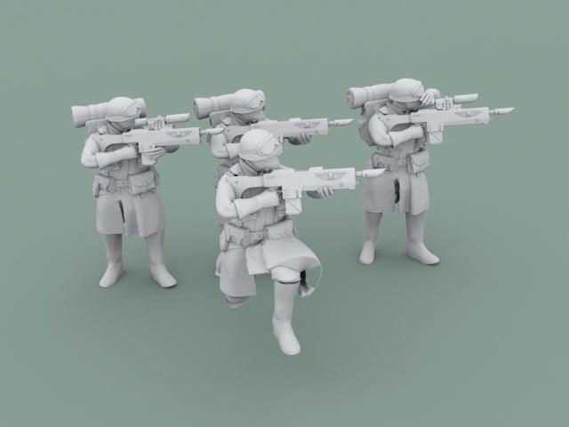 Legion Of Metal Infantry Aiming