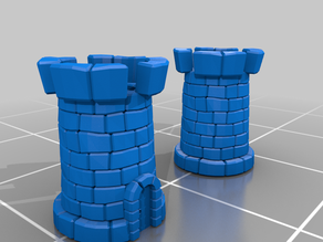 Medieval tower low poly