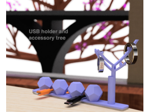 USB holder and accessory tree
