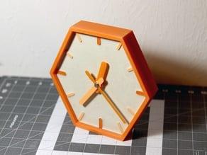 PLA and Concrete Hexagonal Wall Clock