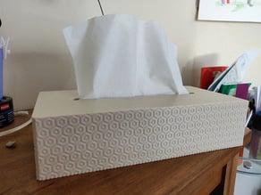 Simple texture tissue box