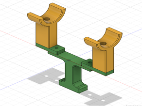 Scope mounting support for centering turrets