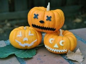 Jack-o-lantern Face Pieces - Mr Pumpkin Head