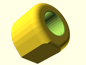 Cylinder with hole filleted and chamfered