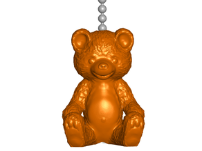 Teddy Bear Pull Ball Chain, Keychain Knob | Handle | Fob | Finials