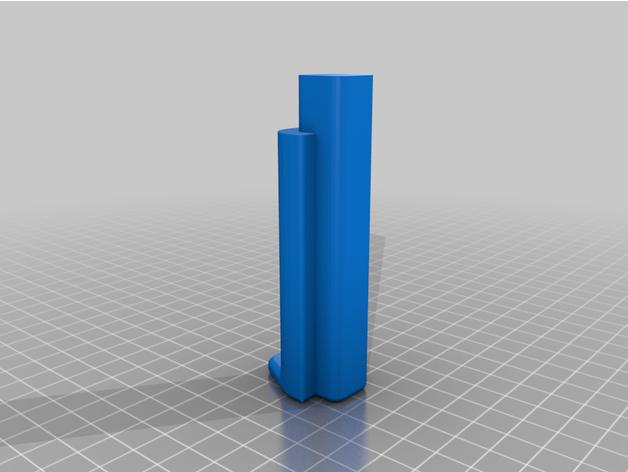 Adaptador para carretel de filamento 75mm Hellbot Magna 2 by mndangelo