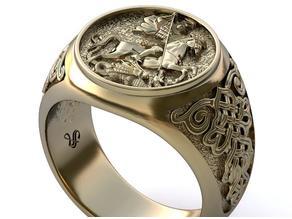 Moscow ring (Saint George) stl + 3dm