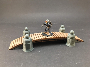 Arched Bridge #1 for 28mm miniatures gaming