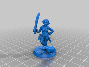 Heroforge Barra - Half-Orc Barbarian & badger familiar