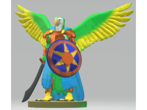 Pa'ratxi Warrior #2 (parrot aarakocra)
