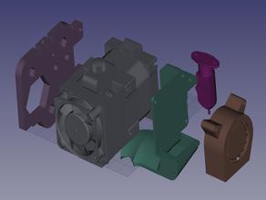 Ender 3 modular Hemera mount (no X build volume loss)