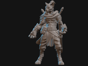 Tabaxi Monk Miniature