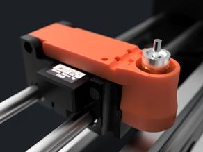 Drag Knife Tool Holder (Remix - Scalable Pen Plotter)