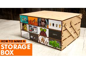 Wooden Foldable Storage Box