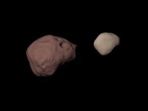 Phobos and Deimos scaled one in 500 thousand
