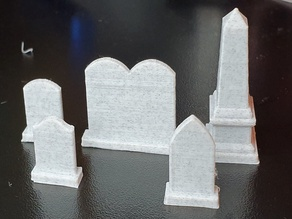 Some Headstones for tabletop gaming