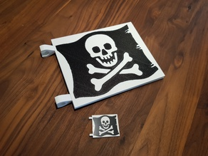 LEGO Pirate Flag - Jolly Roger (Multi Color)