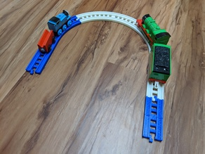 Modular Train Track Set, Standard Compatible, and Customizable