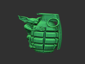 Goblin on a grenade